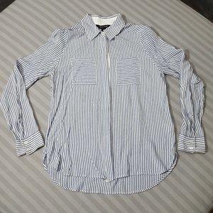 White House Black Market striped career shirt Sz 2